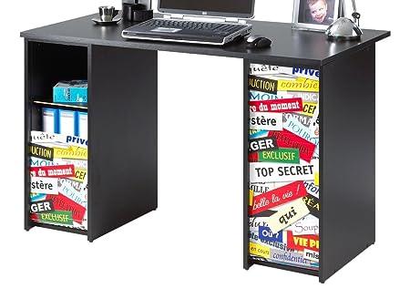 Simmob SCOUT122NO300 Top Secret 300 ufficio di 2 alloggiamenti, con tende, stampati, in legno, 65 x 120 x 74 cm