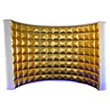 SAYOK Inflatable Photo Booth Wall with Air Blower (Internal Gold, 119''x59''x91'') Inflatable Photo Booth Backdrop for Event and Exhibition Wedding (Color: Gold, Tamaño: 119x59xH91 inches)