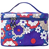 Xaestival Ladies Colorful Floral Pattern Cosmetic Bag Makeup Pouch Travel Organizer