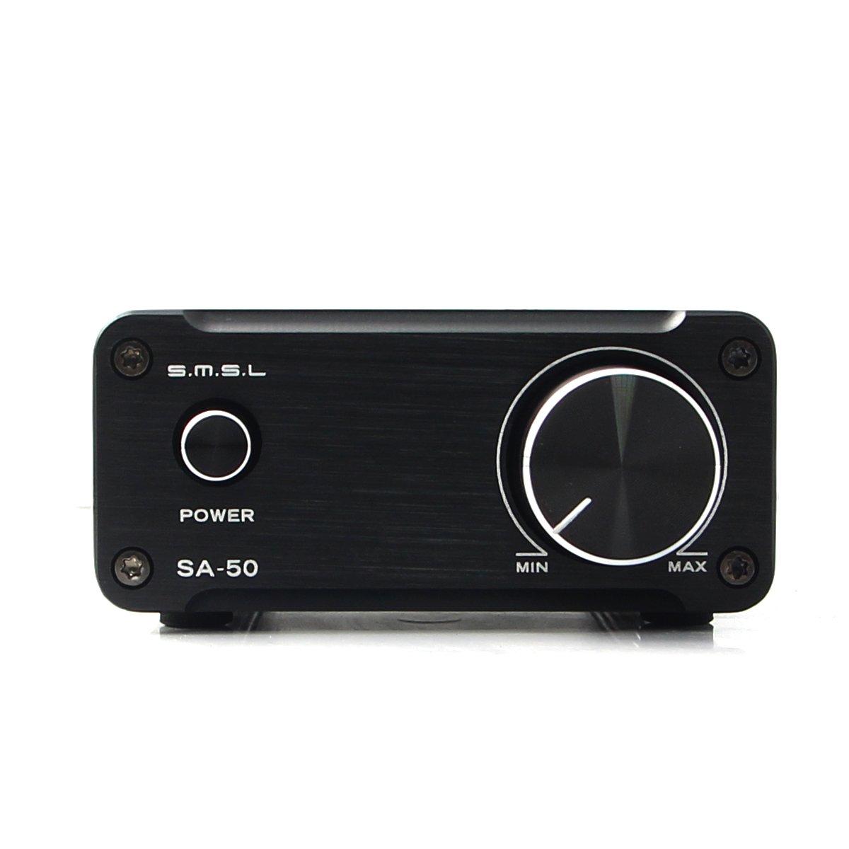 SMSL SA50 50Wx2 TDA7492 Class D Amplifier + Power Adapter (Black)