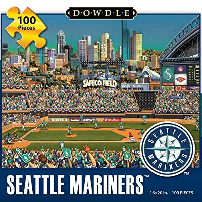 Jigsaw Puzzle - Seattle Mariners 100 Pc By Dowdle Folk Art