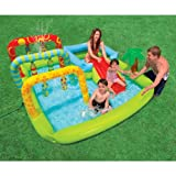 Inflatable drinking water Slides:Intex entertainment Gateway'N Fun perform Center, grow older 3+