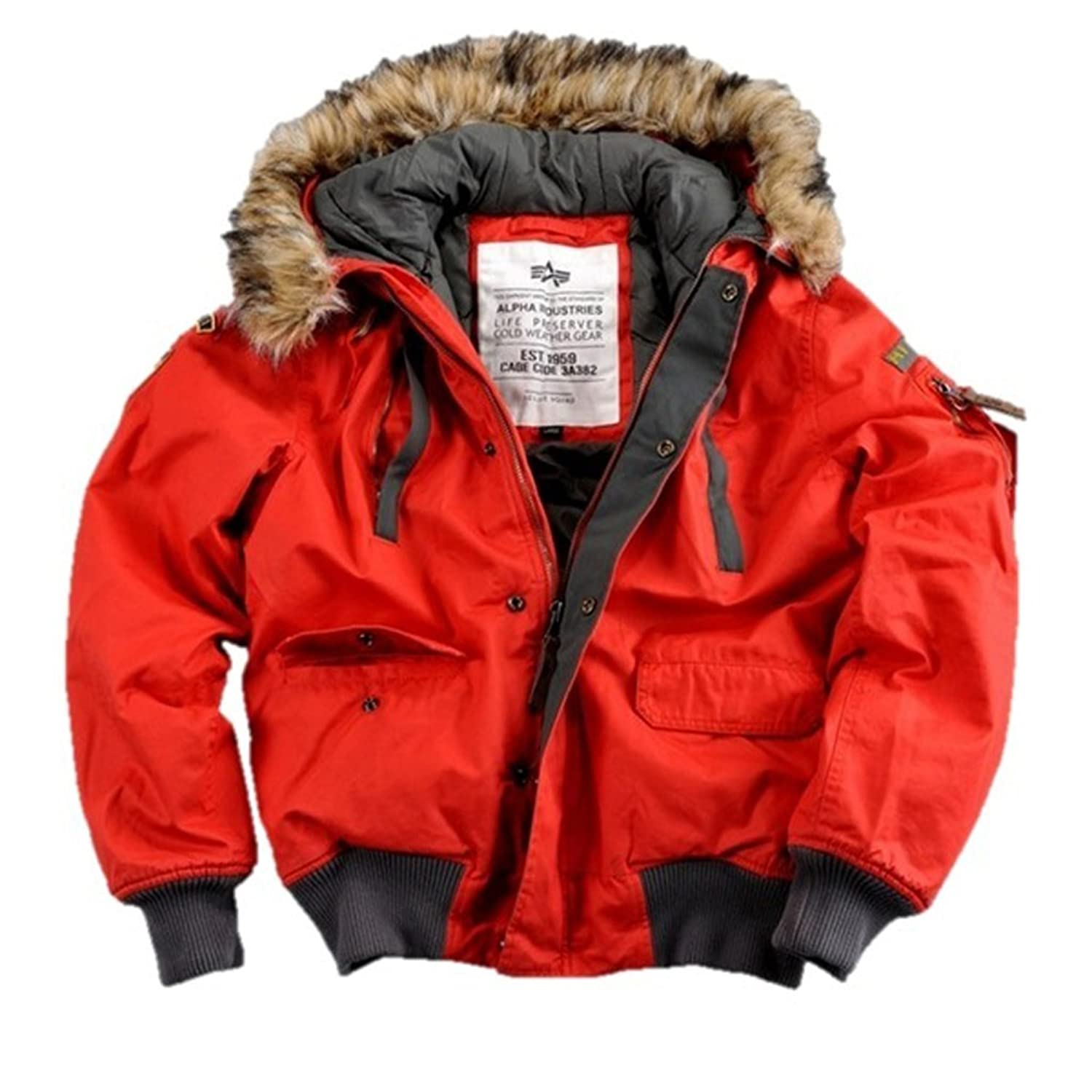"Alpha Ind. Jacke ""Mountain Jacket"" – red S-3XL NEU günstig"