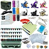 1TattooWorld Ultimate Fully Loaded Tattoo Kit, 6 Tattoo Machines, Digital Power Supply, 40 Color 5ml Tattoo inks, Grips, Needles, Transfer Paper, Carrying case etc, OTW-KTB640A