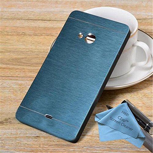 CZap Motomo Full Metal Protective Hard Back Case Cover for Microsoft Nokia Lumia 540 - Blue