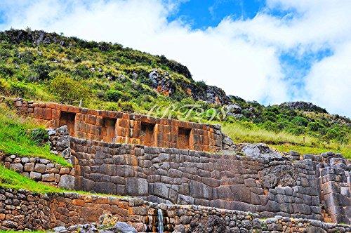 風景写真ポスター クスコ04 太陽神を崇め、高度な文化と巨万の富をもったインカ帝国の首都として栄華を極めた、南米ペルーの世界遺産クスコ ― タンボマチャイ遺跡: 永遠に水が出続ける建造物。 (A2 59.4×42.0cm)