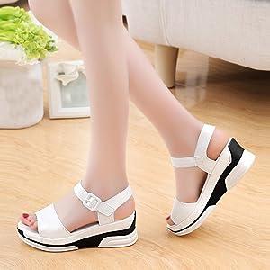 5a7a38fff69 Hemlock Women's Summer Mid Heeled Sandals Shoes Ladies Sandals (US:8 ...