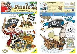 FunToSee Pirates Boys Nursery and Bedroom Wall Decals, Priate