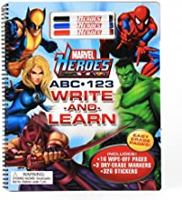 Marvel Heroes ABC amp 123 Write and Learn
