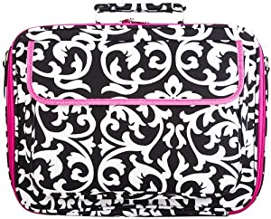 Damask and Hot Pink Laptop Case Bag 15-Inches from World Traveler