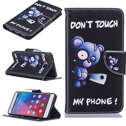 Cozy Hut® Huawei Honor 5X Housse, Ultra-mince Etui En Cuir PU Flip Cassette Intérieur Pour Cartes Pour Huawei Honor 5X - Ours Bleu