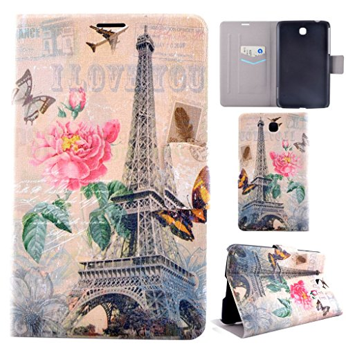 Samsung Galaxy Tab 3 7.0 Case,T210 Case,Gift_Source [Eiffel Tower] PU Leather [Slim Fit] Folio Leather Stand Shell Flip Case Cover with Card slots for Samsung Galaxy Tab 3 7.0 T210 / T211