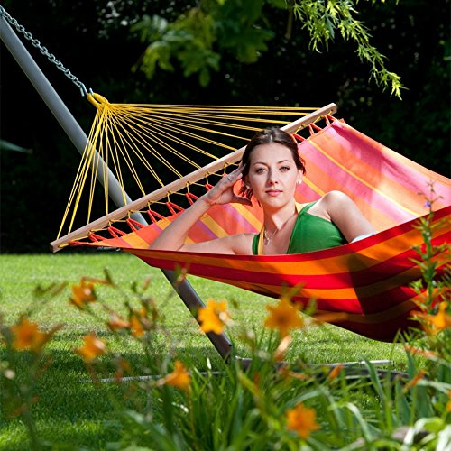 polyester hammock with spreader bar