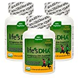 Martek Life's DHA 100mg All-Vegetarian DHA Supplement - 90 Softgels (3 Pack)