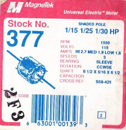 Magnetek Universal Electric Motor 377