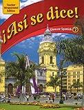 img - for Asi se dice: Glencoe Spanish 2, Teacher Wraparound Edition book / textbook / text book
