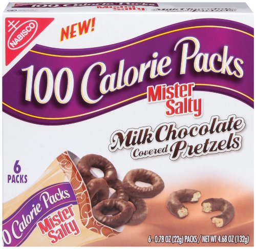 100 Calorie Packs Mr. Salty Chocolate Covered Pretzels, 4.68-Ounce Boxes (Pack of 6)