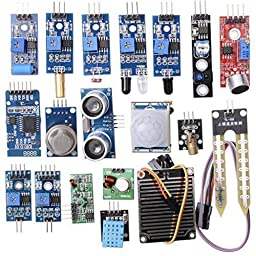 CJRSLRB 16pcs/lots Sensor Module Board Package 16 kinds of sensor Set kit For Raspberry pi 3 Model B 2 Model B Model B+ Arduino UNO R3 Mega2560 Mega328 Nano