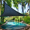 "2nd Generation 12' X 12' X 12"" Sun Shade Sail Uv Top Outdoor Canopy Patio Lawn Triangle Dark Blue by windscreen4less"