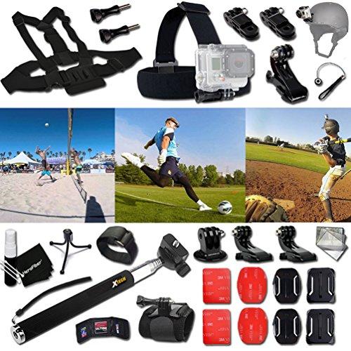 xtechr-baseball-accessories-kit-for-gopro-hero-4-3-3-2-1-hero4-hero3-hero2-hero-4-silver-hero-4-blac