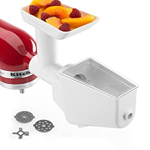 KitchenAid Stand Mixer Attachment Fruit & Vegetable Strainer Set with Food Grinder