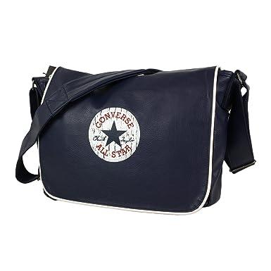 Converse Vintage Patch Pu Shoulder Flap Bag Dark Blue 12