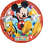 Disney Playful Mickey Paper Plates Large, Multi Color