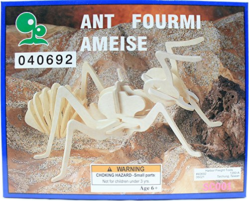 Ant Balsa Wood 3D Insect Puzzle
