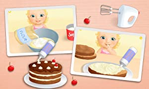 Sweet Baby Girl - Celebrate Baby Birthday, Bake Cake, Get Presents and Pop Baloons by TutoTOONS