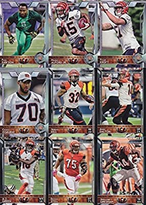Cincinnati Bengals 2015 Topps NFL Football Complete Regular Issue 18 Card Team Set Including AJ Green, Andy Dalton, Giovani Plus