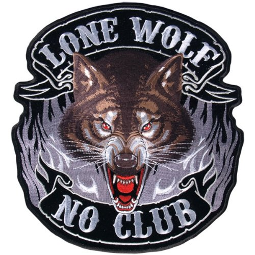 Hot Leathers Lone Wolf, No Club Patch (1