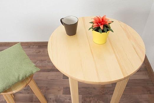 Tisch rund 60x60 cm Kiefer massiv, Farbe: Natur