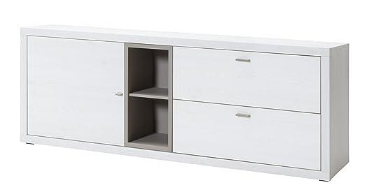 CS Schmalmöbel 89.156.140/23 TV-Möbel / Sideboard, Holz, sibiu lärche / congo, 203 x 44 x 77 cm
