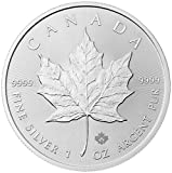 2016 Canadian Silver Maple $5 Brilliant Uncirculated