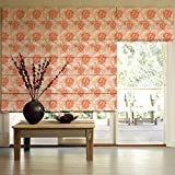 Presto Bazaar Orange Jacquard Window Blind (48 Inch X 44 Inch)