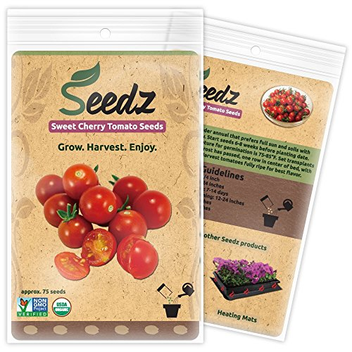 CERTIFIED ORGANIC SEEDS (Approx. 75) - Sweet Cherry Tomato - Heirloom Tomato Seeds - Non GMO, Non Hybrid - USA (Heirloom Tomato Seeds Organic compare prices)