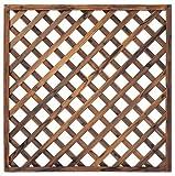 タカショー エコランドガーデンラティス 焼磨き 900×900