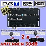 TV Auto DVB-T True Double Diversity Tuner Set mit Full