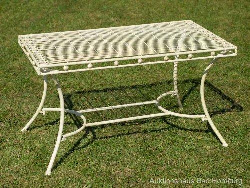 Nostalgie Gartentisch cremeweiß Eisen Tisch Loungetisch antik Stil garden table jetzt bestellen