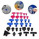 Super PDR 32Pcs Suction Cup Glue Tabs Dent Pulling Glue Tabs Spiral Crease Tabs Auto Body Dent Repair Tools Works with All Glue Pullers (Tamaño: 32pcs)