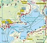 Radwanderkarte Fischland-Darss-Zingst, Rostock, Stralsund, Recknitztal: Mit Ausflugszielen, Einkehr- & Freizeittipps, reissfest, wetterfest, GPS-genau. 1:100000
