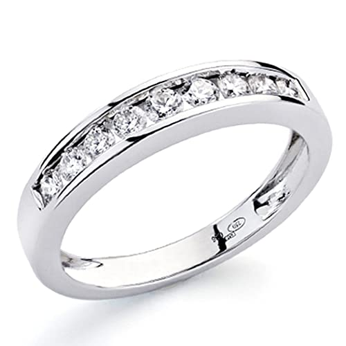 Alliance 18k white gold ring sparkling diamonds 0,36ct 9 [7333]