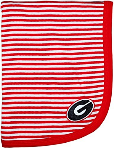 Georgia Bulldogs Red NCAA College Newborn Infant Baby Blanket 33
