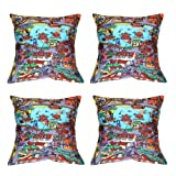 MeSleep Digital Print Carnival 4 Piece Cushion Cover Set - Multicolor