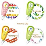 Allydrew 71716c Novelty, Decorative DIY Stationery Supplies for Home Office School, Shapes Sticker Machine Pens, (Color: Shapes)