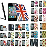 IPhone 4 4G 4S Silicone Gel Protection Case Skin Cover + Screen Protector + Stylus (Union Jack Hard Case)