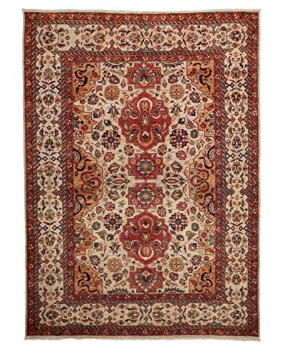 Darya Rugs Traditional Hand-Knotted Rug, Light Beige, 7' 9 x 5' 8