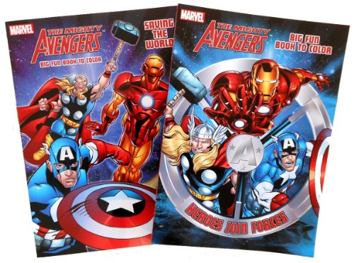 Marvel The Avengers Coloring Books - 2 Coloring Book Set - 1