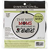 Stitch Wits Grandma Wit Mini Stamped Embroidery Kit 6 Round Stitched In Thread