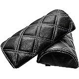 プロシードマービー ダイヤキルトネックパッド 黒×白ステッチ 2個セット